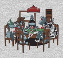Robot Dogs Playing Poker One Piece - Long Sleeve