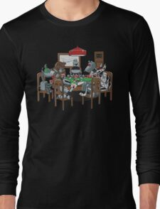 Robot Dogs Playing Poker Long Sleeve T-Shirt