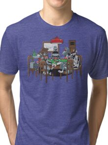 Robot Dogs Playing Poker Tri-blend T-Shirt