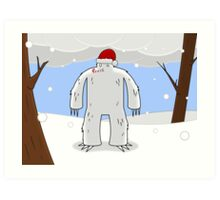 Yeti Claus Art Print