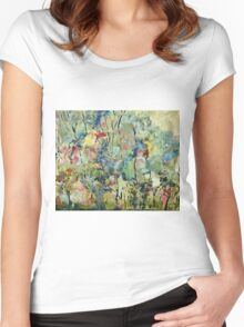 Pressed Flowers Women's Fitted Scoop T-Shirt