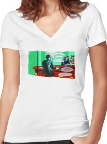 Who is the Balloon Suited Man? A Graphic Novel Women's Fitted V-Neck T-Shirt