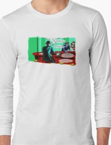 Who is the Balloon Suited Man? A Graphic Novel Long Sleeve T-Shirt