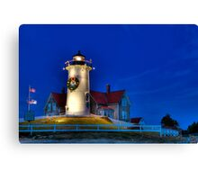 Christmas By The Sea Canvas Print