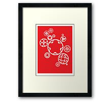 Meshing Gears (red) Framed Print