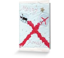 Red Arrows Xmas Card Greeting Card
