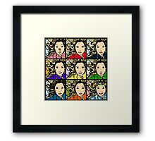 MANY MOODS OF MIA Framed Print
