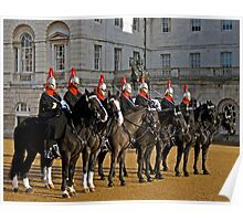 Blues and Royals at Horseguards Poster