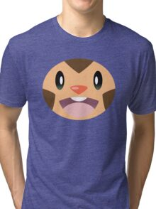 Pokemon - Chespin / Harimaron Tri-blend T-Shirt
