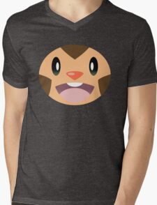 Pokemon - Chespin / Harimaron Mens V-Neck T-Shirt