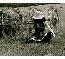 Tilling my Heart Photographic Print