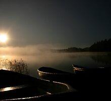 Boats in the  Autumnal scenery  by Markku Mestilä