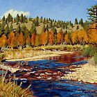 Landscape Painting - Colorado Mountain Stream - 8 x 10 Oil by Daniel Fishback