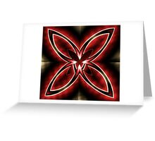 Stripes on Petals + Parameter Greeting Card