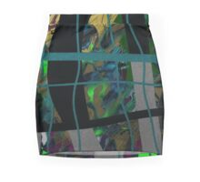 Forest, window, green organic, abstract Mini Skirt