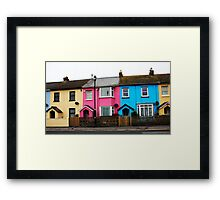 Houses With Colour Framed Print
