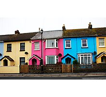 Houses With Colour Photographic Print