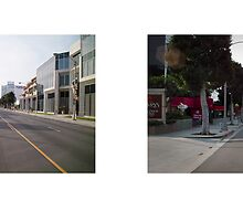 La Cienega Boulevard, Restaurant Row, Los Angeles, California, USA...narrowed. by David Yoon