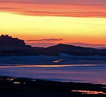 Bamburgh sunset by Rachael Talibart