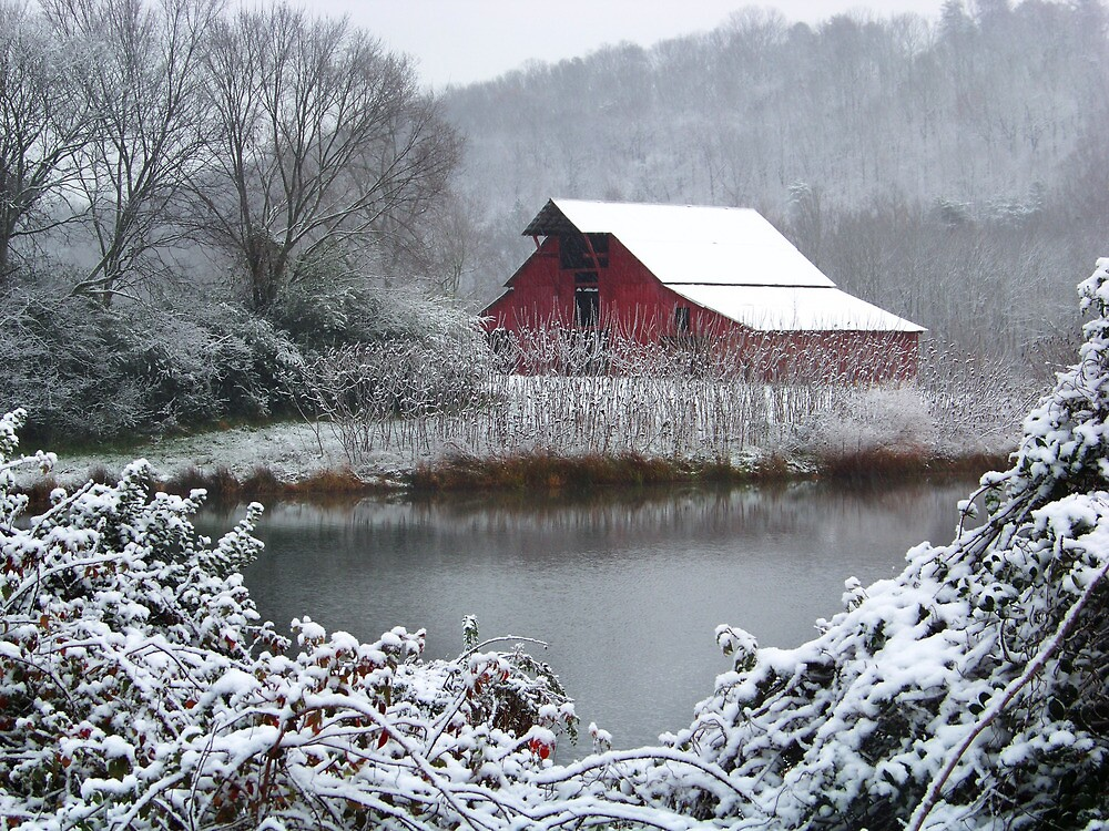 Winter Barn by Marylee Pope