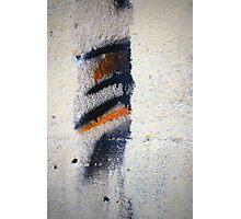 Orange, Black, White Photographic Print