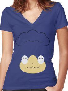 Pokemon - Panpour / Hiyappu Women's Fitted V-Neck T-Shirt