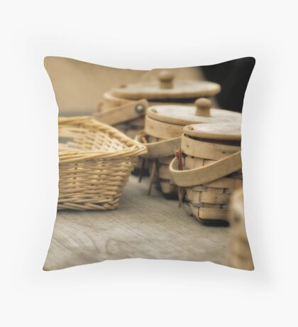 Baskets Throw Pillow