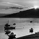 Sunrise over Nissaki - B&W by Tom Gomez