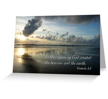 Genesis One Greeting Card