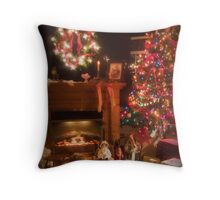 Picturesque Christmas Throw Pillow