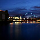 The Tyne by night by Angi Wallace