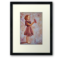Georgia, the Spanish dress and the Eclectus Parrot Framed Print