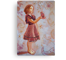 Georgia, the Spanish dress and the Eclectus Parrot Canvas Print