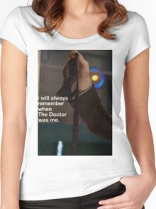 I will always remember when the doctor was me Women's Fitted Scoop T-Shirt