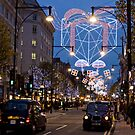 Christmas Shopping in Oxford Street London by Mark Chapman