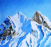 Snowy Mountain by Juan Alcantara