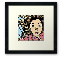 Mia & the Butterfly Framed Print