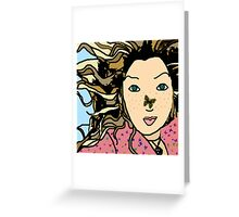 Mia & the Butterfly Greeting Card
