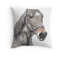Horse study Throw Pillow