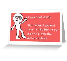Drunk Funny Stickman Colour Greeting Card