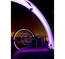 Falkirk Wheel at Night Photographic Print