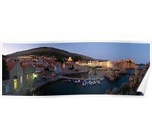 City of Dubrovnik at dusk Poster