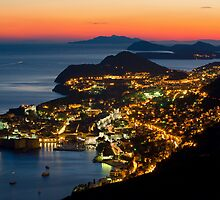 Night is coming over Dubrovnik by Ivan Coric