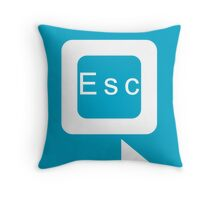 Don't you wish you could just click a button to escape the world? Throw Pillow