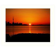 Sunrise Lakeshore (serie VIII)!... Art Print