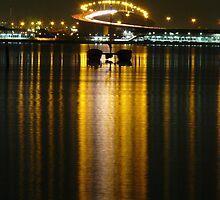 Westgate Bridge at night by Dean Woodyatt