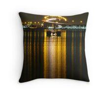 Westgate Bridge at night Throw Pillow