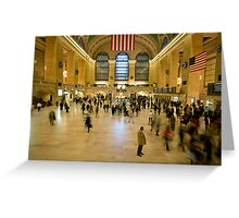 Christmas Rush - Grand Central Station, NY Greeting Card