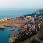First sun rays on Dubrovnik by Ivan Coric