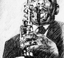 Jazz portraits-Johnny Hodges by Francesca Romana Brogani